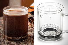 Minibru Coffee Mug. Easy to clean -- gotta get me one! Java, Tea Mugs, Coffee Mugs, Coffee Lover Gifts, Coffee Lovers, 21st Gifts, Vintage Coffee, Cool Items, Coffee Beans