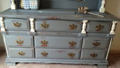 Shabby Chic Furniture Vintage Chest of Drawers by VintageHipDecor, $349.00