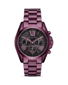 A full-featured chronograph from Michael Kors with sporty good looks makes a fashion-forward impact.   Imported   Case size: 43mm   Deployant clasp closure   Water resistant to 10 ATM   Quartz chronog