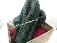 READY TO SHIP Pantoufles tricotées men women dark grey and green slippers knitted with corn stiches phentex by ChristianeArtStudio on Etsy