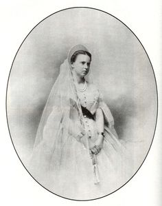 Grand Duchess Maria Alexandrovna Romanova of Russia in a court dress.A♥W