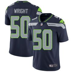 Nike Seahawks #50 K.J. Wright Steel Blue Team Color Men's Stitched NFL Vapor Untouchable Limited Jersey