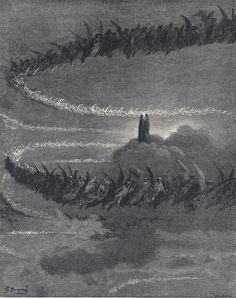 Illustration to Dante's Divine Comedy, Paradiso by Gustave Doré. Plate 18: Dante and Beatrice View the Heavenly Host