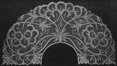 Graslitz Lace School. Collar in needlepoint lace, c1905