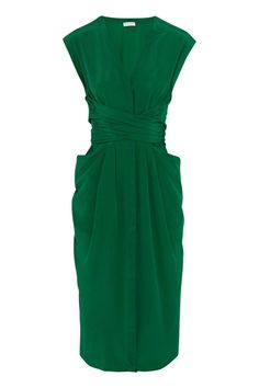 Vionnet's Emerald Silk Wrap-Dress