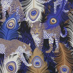 Discover+the+Matthew+Williamson+Leopardo+Wallpaper+-+W6805-01+at+Amara