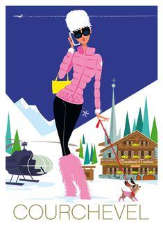 17 ideas for sport poster retro vintage ski Ski Vintage, Vintage Ski Posters, Look Vintage, Travel Illustration, Illustrations And Posters, Vintage Advertisements, Skiing, Logos, Apres Ski