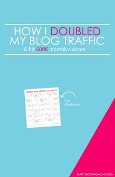 Want to increase your audience and double your traffic? Find out the strategies I applied to learn how I doubled my blog traffic last year and reach 600K monthly visitors.