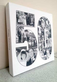 A custom designed photo collage designed from your photos to fit into any text you like. You only need to place the order now, we will email you with instructions on how to upload your photos and discuss the details of your collage. Photo Collage Canvas, Collage Foto, Photo Collage Design, 50th Birthday Party Games, Moms 50th Birthday, 50th Birthday Cards, 70th Birthday Decorations, Birthday Crafts, 50th Birthday Quotes Woman