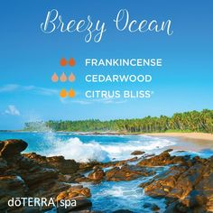 Whether you're at the beach or dreaming of one, try this Breezy Ocean diffuser blend!