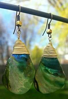 Check out this item in my Etsy shop https://www.etsy.com/listing/288658665/abalone-shell-drop-earrings