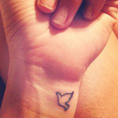 dove wrist tattoo