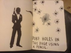 wreck this journal poke holes in this page using a pencil - Google Search