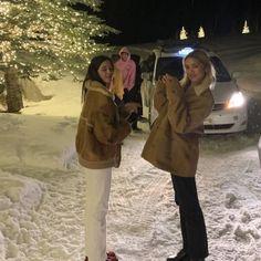 Snow Outfit, Snow Bunnies, Snow Angels, Gal Pal, Christmas Aesthetic, Friend Photos, Winter Wonderland, Mini, Canada Goose Jackets