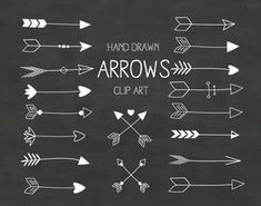 This Etsy store has lots of unique clipart at pretty low prices Hand drawn arrows clipart, arrow clip art