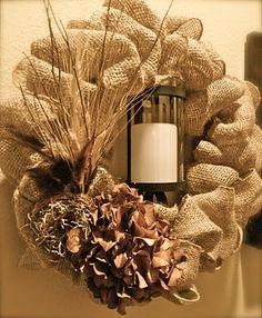 Another burlap wreath
