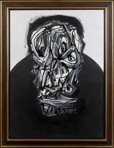 Artwork by Antonio Saura, DON II, Made of Oil on canvas, mounted on board
