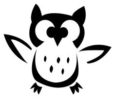 What a hoot! Owl Template for pumpkin carving. #DIY