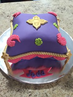 Purple Pillow Cake