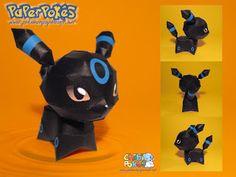 Paperpokés- Pokémon Papercrafts: UMBREON CHIBI