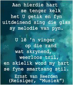 #Afrikaans Poësie: deur Ernst van Heerden #Afrikana Afrikaans, Singing, Language, Van, Words, Languages, Vans, Language Arts, Horses