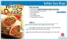Buffalo Tuna Wraps