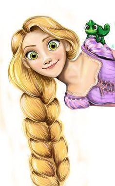 Rapunzel com trança