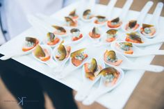 Mouthfuls of deliciousness by Chef Bertus Bester Thank you to Kobus Tollig Photography for capturing this image so beautifully All Is Lost, Tasting Room, Wines, Catering, Yummy Food, Table Decorations, Photography, Image, Fotografie