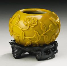 AN AMBER GLASS WATERPOT QING DYNASTY, 18TH CENTURY - Sotheby's