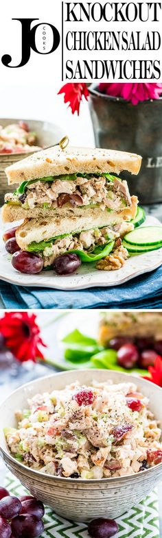 These Knockout Chicken Salad Sandwiches will turn your lunch from boring to spectacular! They're packed with flavor and really quick and easy to make.