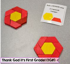 Composing 2D Shapes Free Center Cards! | Thank God It's First Grade (TGIF!) | Bloglovin'