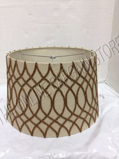 Pottery Barn Tapered Drum Veronica Beaded Lamp Light SHADE SML Gold Embroidery *