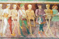 Trionfo della morte e Danza macabra,Oratorio dei Disciplini, Clusone, Bergamo  Affreschi del 1485 dovuti ad un artista forse