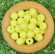 Round 9mm Silicone Bead 20pk - Pale Yellow - Silicone Beads Australia™