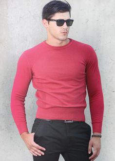 Пуловер Styler цвят малина | Онлайн маркови дамски дрехи, мъжки дрехи и дамски обувки. Online магазин за маркови рокли, блузи, ризи.