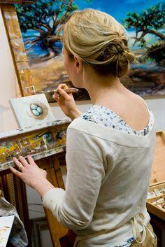 Arianne Schnalzer, artist at work!!! http://www.krispmag.com/2012/02/25/arianne-schnalzer-artist-2/