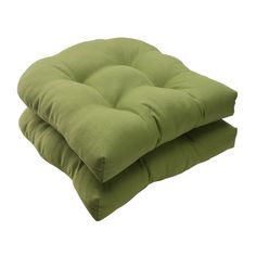 Pillow Perfect Indoor/Outdoor Forsyth Wicker Seat Cushion, Green, Set of 2 #deals