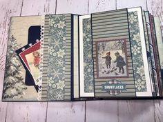 Solitude Winter Album Tutorial 1 of 2 Christmas Mini Albums, Accordion Book, Memory Album, Mini Albums Scrap, Mini Album Tutorial, Handmade Journals, Handmade Cards, Album Book, Mini Scrapbook Albums