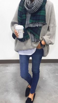 Oversized sweater love.
