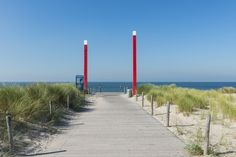 Strand-Eingang zum Maasvlakte
