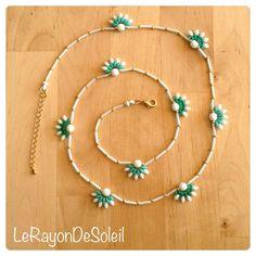 Man woman unisex necklace SuperDuo emerald by LeRayonDeSoleil, €30.00