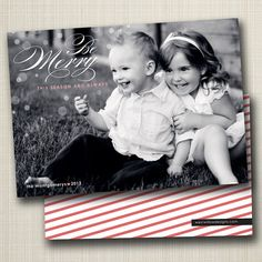 christmas holiday photo card be merry this season and always. by westwillow on Etsy