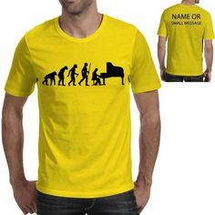 Evolution of Piano Player Custom T-Shirt Funny Birthday Gift Ape Man Sport Mens Printed T Shirts, Funny Birthday Gifts, Evolution T Shirt, Funny Prints, Cartoon T Shirts, Personalized T Shirts, Custom T, Sport T Shirt, Funny Tees