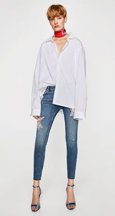 Shortened Pants Female Jeans Waist Mid Women Girls For Woman Skinny Stretch