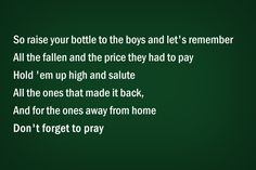 AARON WATSON - RAISE YOUR BOTTLE LYRICS