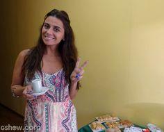 Giovanna Antonelli se prepara para bate-papo no Mais Você (Foto: Mais Você/TV Globo)