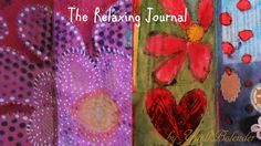 FLIP THROUGH The Relaxing Junk Art Envelope JOURNAL, Water Soluble Oil P...