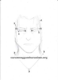 How to draw itachi uchiha face, step 4