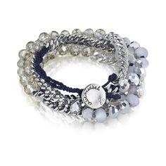 Bead + Chain Multi-Wrap Bracelet  #borntowearcandi  @wearcandi #pintowin