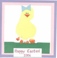 Easter Handprint/Footprint Crafts for Kids